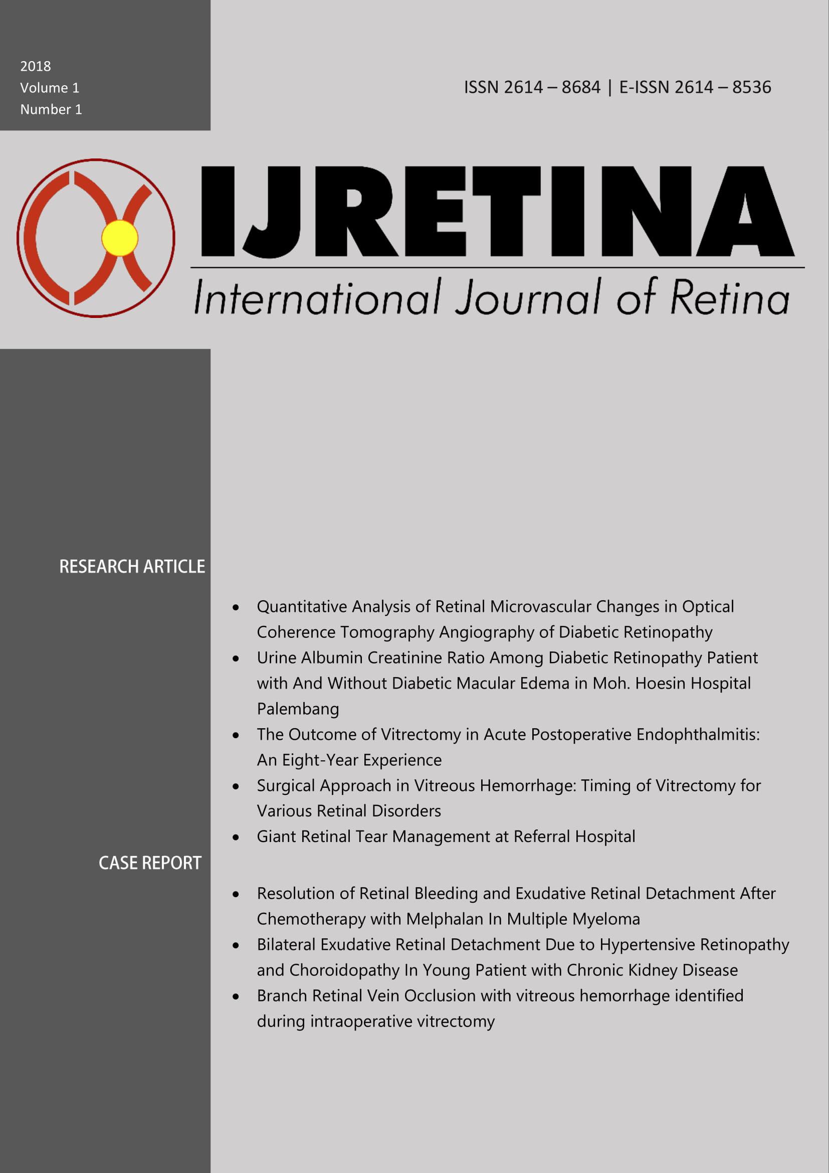 International Journal Of Retina Volume 1